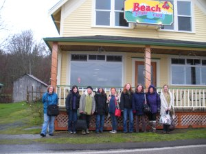 007 Beach Store exterior with writers