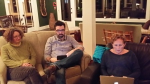 Susan, Michael, Dawn in Lobby